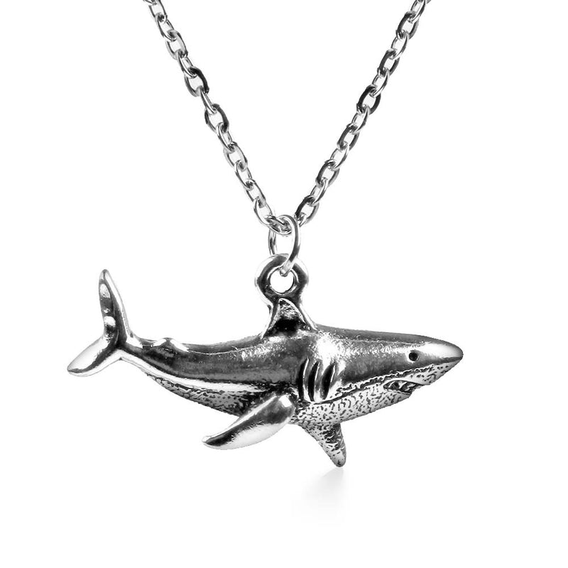 Great White Shark Necklace in Silver