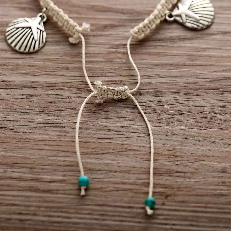 Adjustable woven anklet