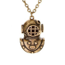 Mens Deep Sea Scuba Diver Necklace
