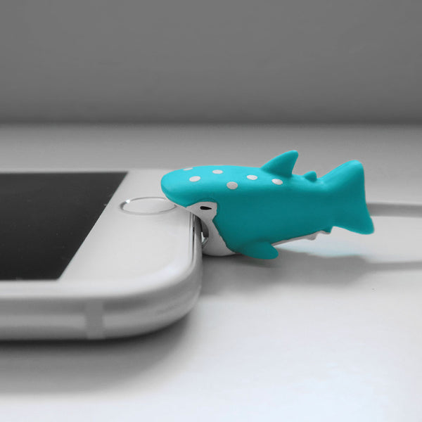 Whale Shark Bite Cable Protector for iPhone