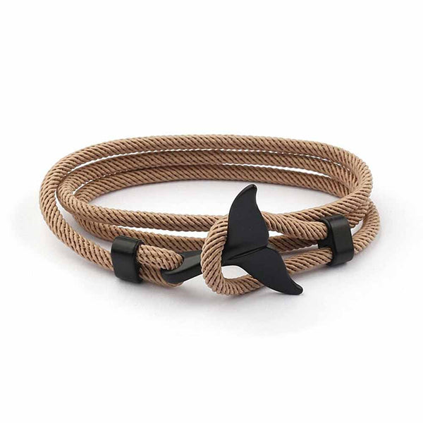 Brown & Black Whale Tail Bracelet