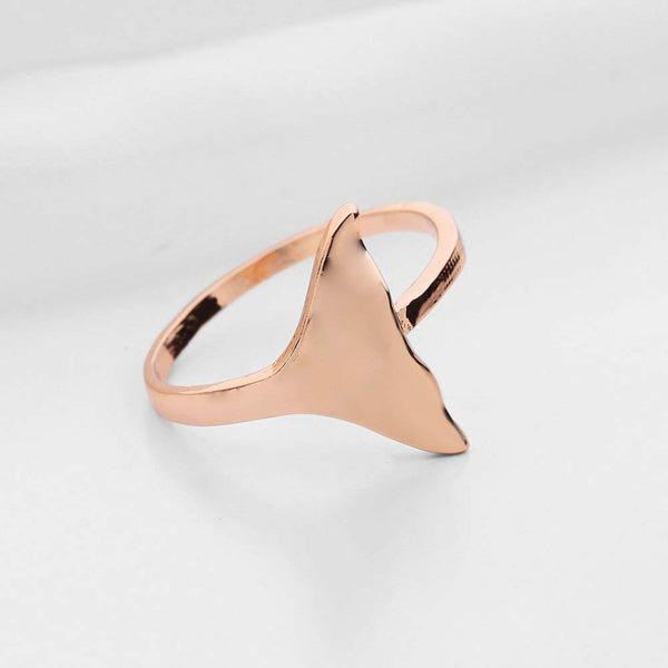 Gold Tone Whale Tail Ring