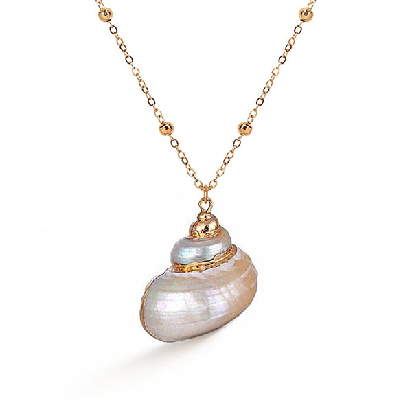 White Pearl Turbo Shell Necklace