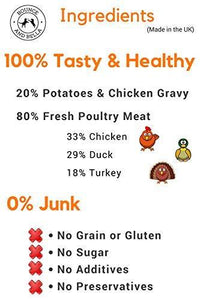 Grain Free Premium Poultry Treats for Dogs (Box of 16 x 500g)