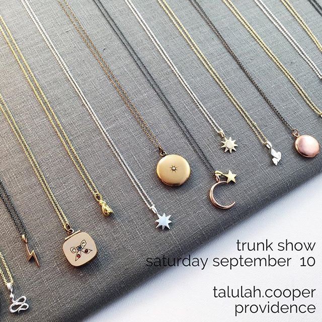 Trunk Show September 10 at talulah.cooper in Providence