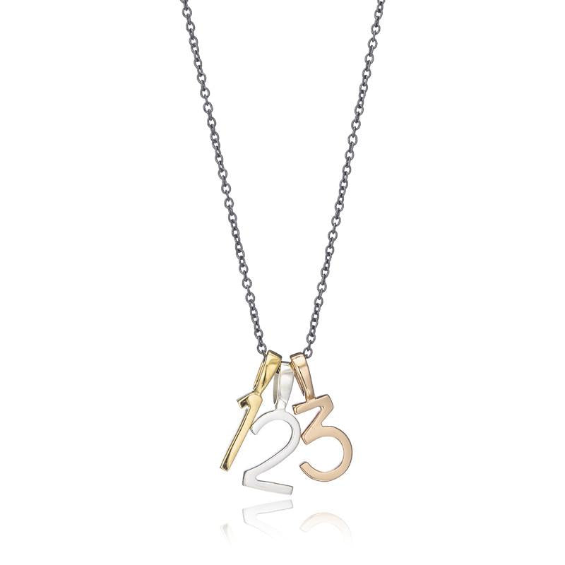 Polished Gold Vermeil Number 3 Charm - Classic