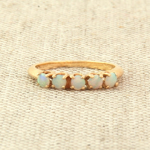 14K Gold Opal Stacking Ring