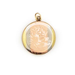 Tri-Metal Striped Locket