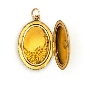 Violet Oval Locket