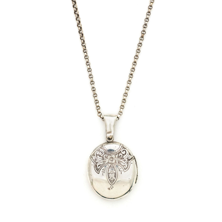 Sterling Silver Floral Collar Locket