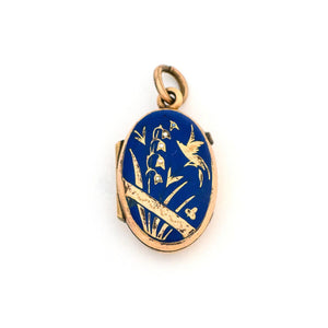 Lily of the Valley Enamel Locket