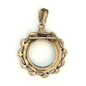Sterling French Paste Halo Locket