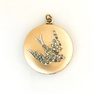 Sweetheart Swallow Bird Locket