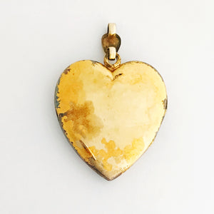 Floral Heart Shield Locket