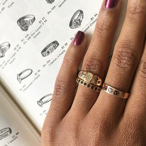 Estate Stacking Birthstone Rings
