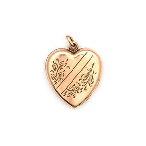Floral Crossbar Heart Locket