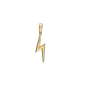Solid 14K Gold Blixt Lightning Bolt Charm