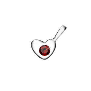 Heart Birthstone Charm for Bracelet