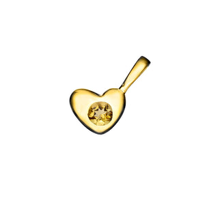 Heart Birthstone Charm