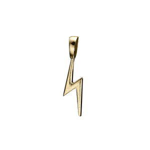 Matte Gold Vermeil Blixt Lightning Bolt Charm