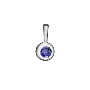 Moon Birthstone Charm Necklace