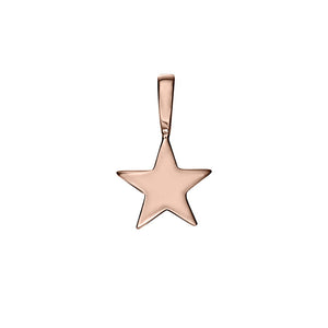 Polished Rose Gold Vermeil Shooting Star Charm