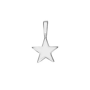 Polished Sterling Silver Shooting Star Charm