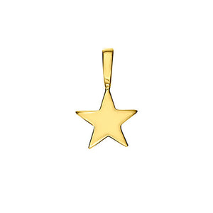 Polished Gold Vermeil Shooting Star Charm