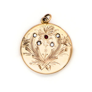 Floral Fireworks Locket