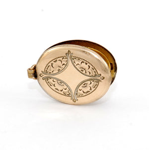 Oval Engraved North Star Locket