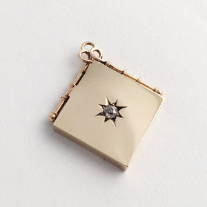 Diamond Star Solid Gold Locket