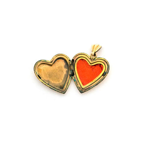 Tiny Rainbow & Flowers Heart Locket
