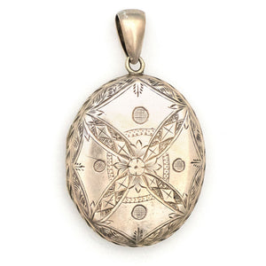 Sterling Silver Floral Compass Locket