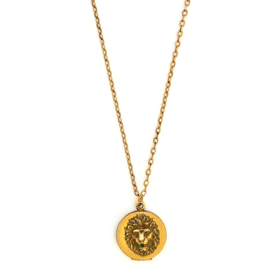Petite Lion's Head Locket