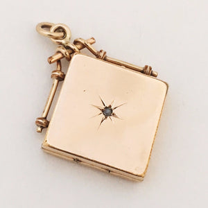 Diamond Square Antique Locket