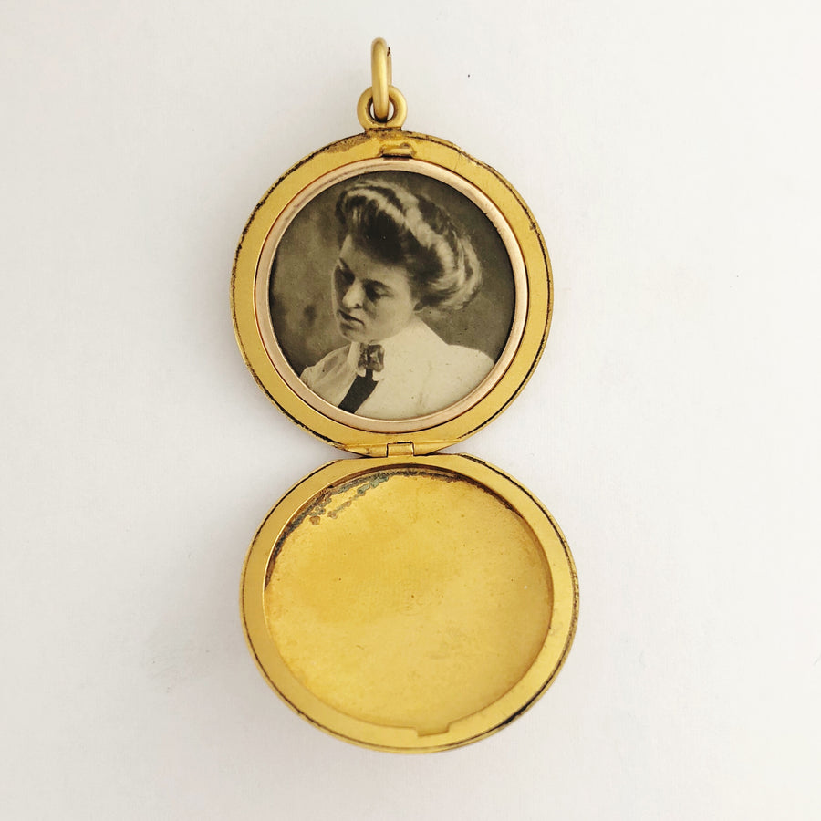 Matte Golden Locket