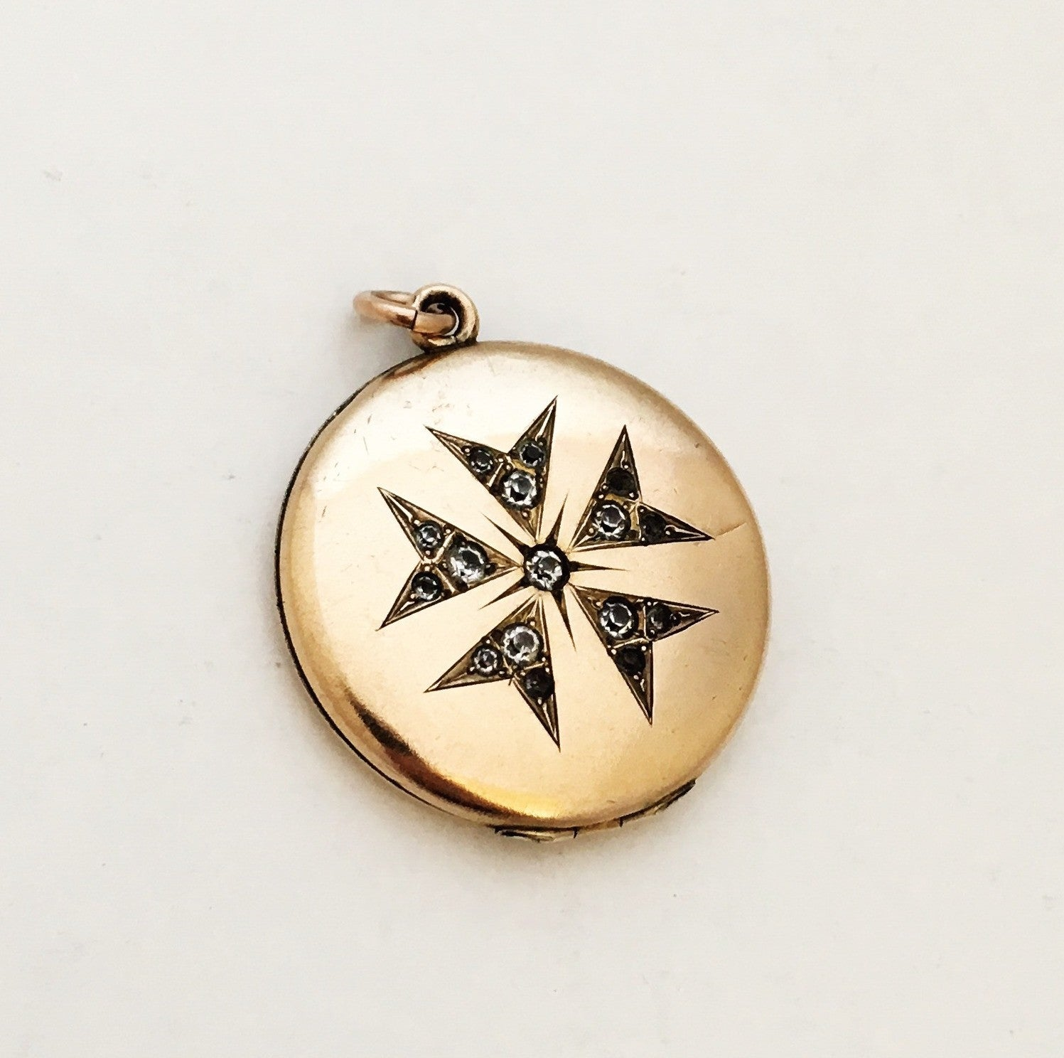 necklace stella north luna unique vintage locket products lockets engraved oval star