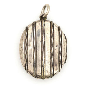 Sterling Silver Shadow Stripes Locket