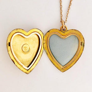 Victorian Floral Heart Locket