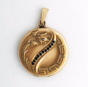 Lotus Flower Art Nouveau Locket