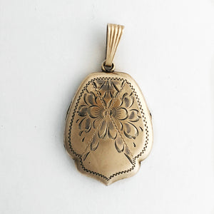 Floral Shield Antique Locket