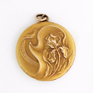 Art Nouveau Iris Locket