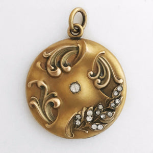 Art Nouveau Floral Locket