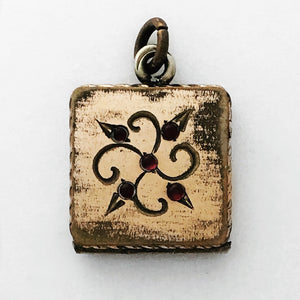 Square Floral Locket