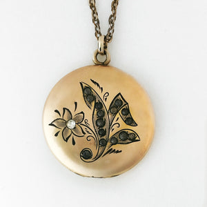 Rose Gold Garden Locket