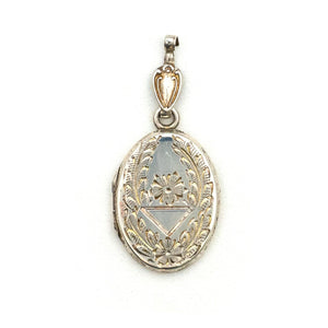 Petite Sterling Silver Oval Wreath Locket