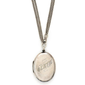 Edith & Gertie Silver Locket
