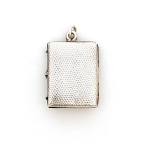 Deco silver & garnet book locket