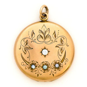 Opal Blooms Locket