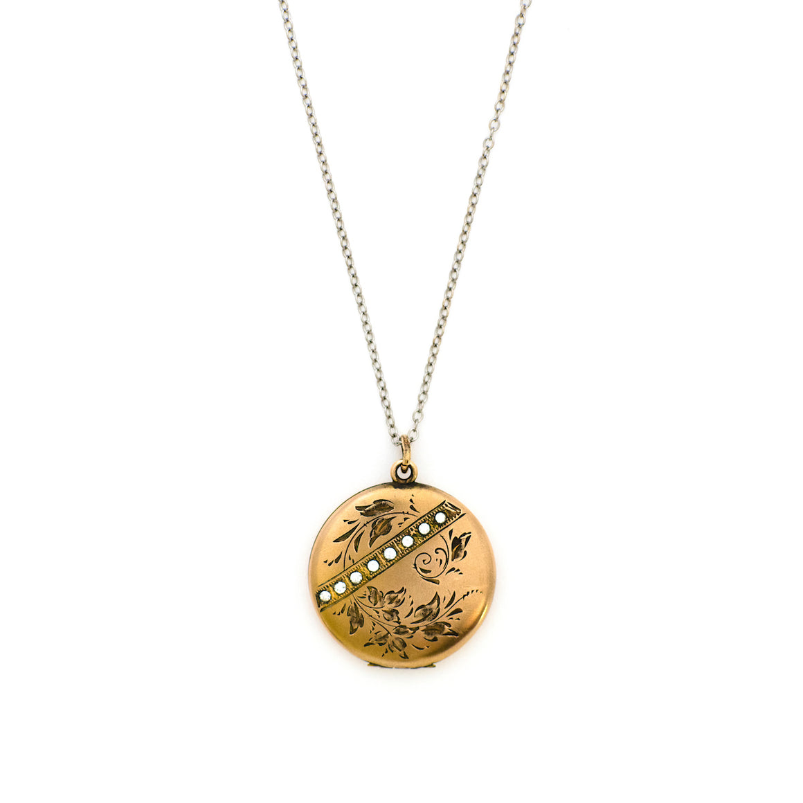 Floral and Stripe Locket
